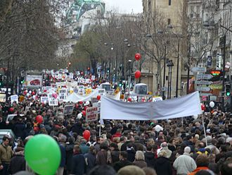 Conservatism - March for Life in Paris, France, in 2012