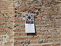 Marcuta Monestery bell tower plaque.JPG