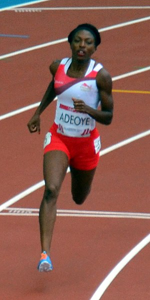 Margaret Adeoye - Adeoye in the 400m heats at the Commonwealth Games 2014