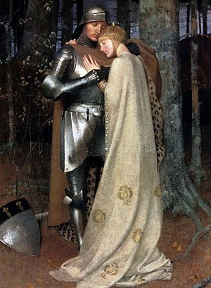 Aucassin and Nicolette - Aucassin and Nicolette, 19th-century oil-on-canvas by Marianne Stokes