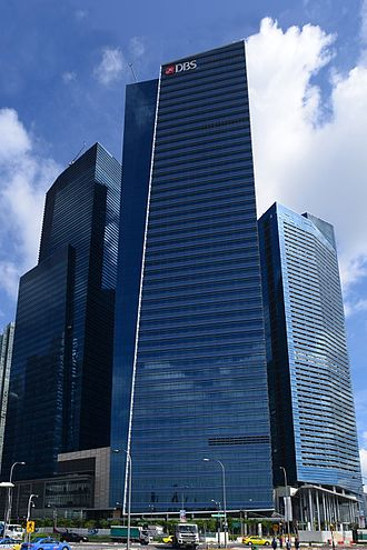 DBS Bank - DBS corporate headquarters at Marina Bay Financial Centre Tower 3 in Singapore.