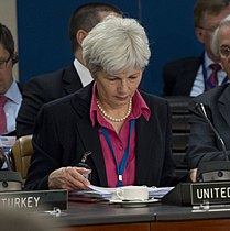 Mariot Leslie at North Atlantic Council at NATO in Brussels (2) (cropped).jpg