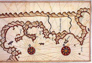 Marmaris - Historical map of Marmaris by Piri Reis