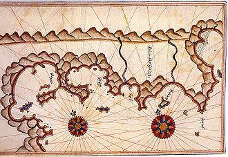 Marmaris - Historical map of Marmaris by Piri Reis
