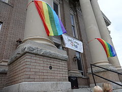 Marriage Equality Celebration, Lowndes County Courthouse 07.JPG