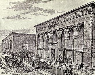 Flax mill - Exterior of Marshall's flax-mill at Holbeck, Leeds, probably circa 1843