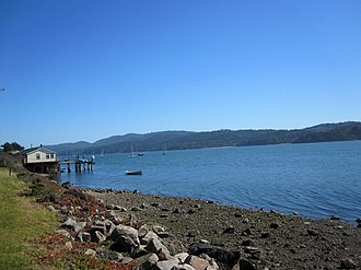 Marshall, California - Marshall shoreline