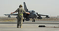 Marshalling a RAF Tornado GR4 in the Middle East MOD 45157234.jpg