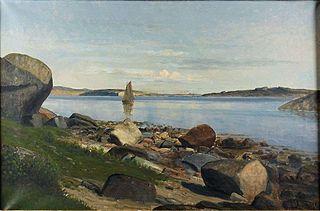 Coastal Scene with Sailboat