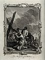 Martyrdom of Saint Andrew. Engraving by A. Walker after C. M Wellcome V0031556.jpg