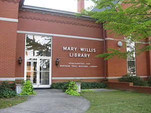 Mary Willis Library - Entrance to the library annex.