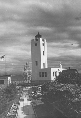 Phare de l'île Mary en 1937