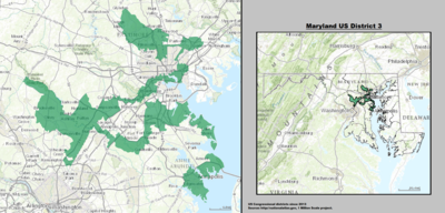Image result for Outline of Maryland district 3