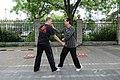 Master Di Guoyong of Beijing demonstrating a Zuan Quan application as part of a partner practice form, 2014.jpg