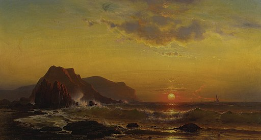 Mauritz de Haas - Sunset over the waves