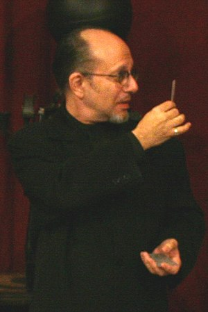 Max Maven - Max Maven, out of character, performing an ESP card trick, 2007
