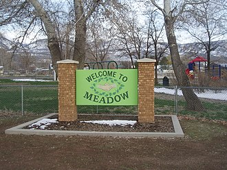 Meadow, Utah - Meadow welcome sign