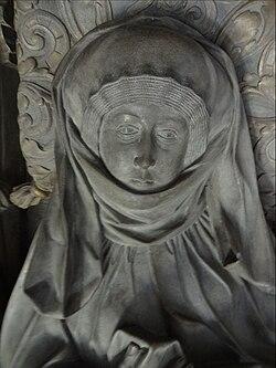 Mechthild von der Pfalz - Grabmal, Gesichtspartie (JMohr).jpg