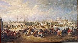 Charles Parrocel - Mehemet Effendi arrives at the Tuileries on 21 March 1721. Charles Parrocel.