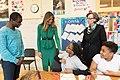 Melania Trump visits Excel Academy Public Charter School, April 2017.jpg