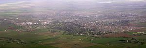 Melton, Victoria - Aerial view of Melton urban area