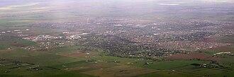 Melton, Victoria - Aerial view of Melton urban area