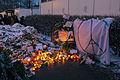 Memorial to November 2015 Paris attacks at French embassy in Moscow 12.jpg