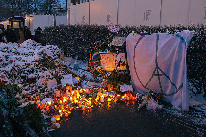File:Memorial to November 2015 Paris attacks at French embassy in Moscow 12.jpg
