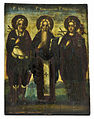 Menas, Charalampe and Pantaleon (Russia, 19 c., priv. coll).jpg