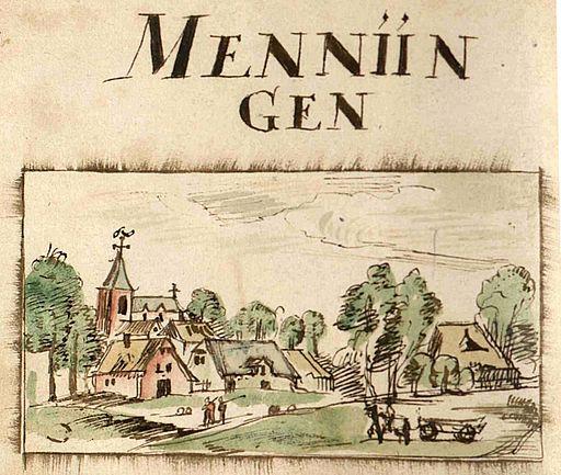 Menningen by Jean Bertels 1597