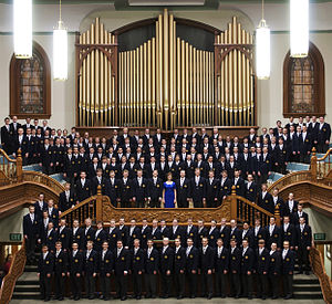 Rosalind Hall - Members of BYU's Men's Chorus, under the direction of Rosalind Hall.