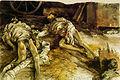 Menzel- Drei gefallene Soldaten in einer Scheune (1866).jpg