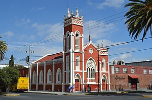 Protestantism in Mexico - A Methodist church in Apizaco, Tlaxcala.