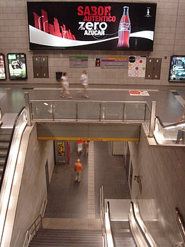 Trappen in het station