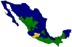 Mexican general election, 2000 - Image: Mexico States President Election 2000