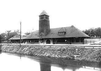 Rogers and MacFarlane - Michigan Central Railroad Depot, Battle Creek, Michigan - Now Clara's on the River restaurant