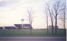 Michigan International Speedway grandstands; picture taken in the 1990s