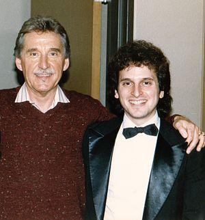 Michael Alden Bayard - Bayard with Doc Severinsen after a performance in Sacramento, CA, 1987