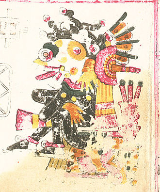 Mictlāntēcutli - Mictlantecuhtli in Codex Borgia