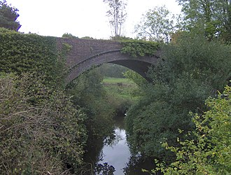 Midford Brook - Railroad viaduct over Midford Brook at Midford