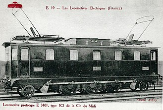 Chemins de fer du Midi - The prototype 1′C1′ locomotive, E 3101