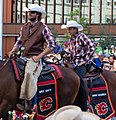 Mike Smith and Johnny Gaudreau in Calgary Stampede Parade (43226870552) (a).jpg