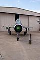 Mikoyan-Gurevich MiG-21US Mongol-B HeadOn CFM 7Oct2011 (15138570098).jpg