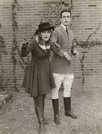 Mildred Davis - Mildred Davis and Harold Lloyd in a scene still for the 1921 silent comedy, Among Those Present