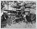 Militaire oefeningen. Amerikaanse infanteristen met machinegeweer, Bestanddeelnr 935-1339.jpg