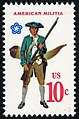 Military Uniforms American Militia 10c 1975 issue U.S. stamp.jpg