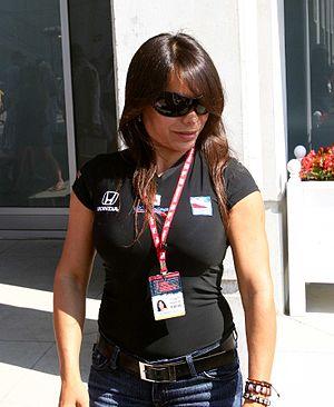 Milka Duno - Duno at Indianapolis Motor Speedway on May 12, 2007.