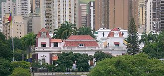 Politics of Venezuela - Miraflores Palace, seat of the executive power.