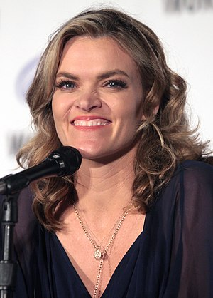 Missi Pyle - Pyle speaking at the 2016 WonderCon in Los Angeles, California.