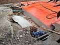 Mitcham Bridge Collapsed Roadway and damaged utility pipes 2019-06-15 1552.jpg